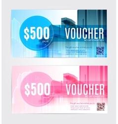 Set Gift voucher template vector