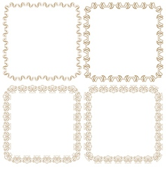 set of beautiful square frames vector image