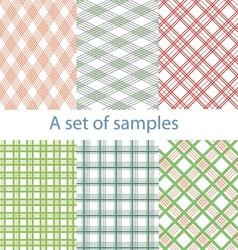 Set of original color samples vector image