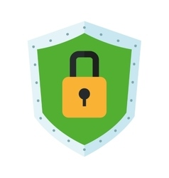 shield with lock icon vector image