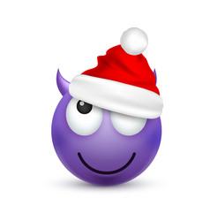 Smileyemoticon violet emoji face with emotions vector