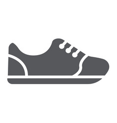 sneakers glyph icon footwear and fashion sport vector image