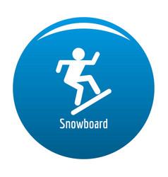 snowboard icon blue vector image