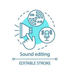Sound editing concept icon vector