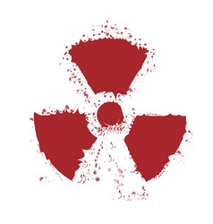 splatter radioactive warning symbol vector image