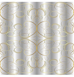 ssilver gold vintage 3d seamless pattern vector image