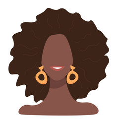 stylish afro american female character with accent vector image