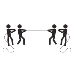 teamwork competition pull rope people vector image