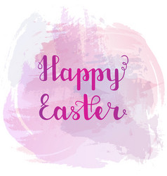 text happy easter hand lettering vector image