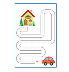 Tracing lines game for preschool or kinder vector