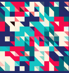 triangle geometric shapes pattern vector image