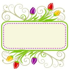 Tulips spring frame vector