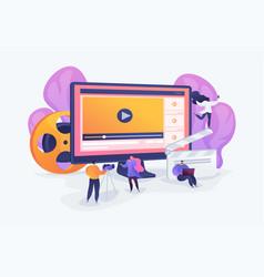 Video content marketing concept vector