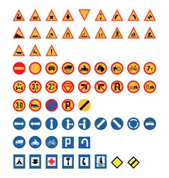 Vintage Road Signs Set vector