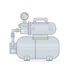 Water pump pumping station for onli vector