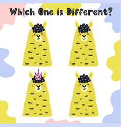 Which one is different activity sheet with cute vector