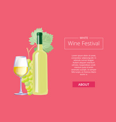 white wine festival on red vector image
