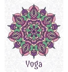 yoga circular mandala vector image