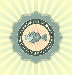 Fresh fishes symbol vector image