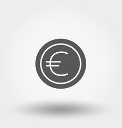 Money sign coin euro vector
