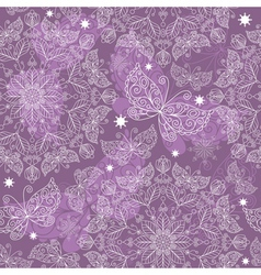 vintage lacy seamless pattern vector image vector image