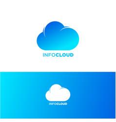 cloud computing logo communication emblems vector image