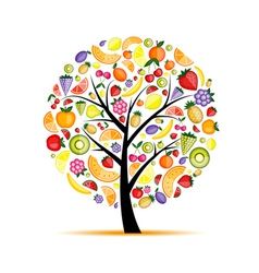 Energy fruit tree for your design vector image vector image