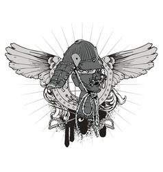 japanese emblem vector image