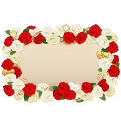 Romantic Flower Board vector image vector image