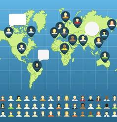 Social network abstract scheme vector image