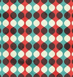 vintage seamless pattern with grunge effect vector image vector image