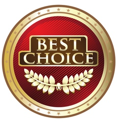 Best Choice Gold Label vector image vector image