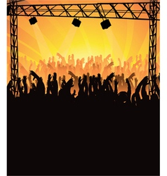 concert poster with crowd vector image vector image