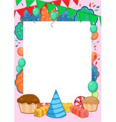 Happy birthday invitation bright template vector