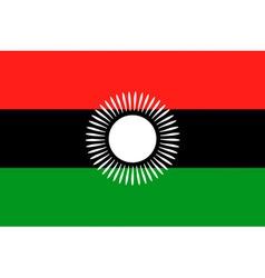 malawian flag vector image vector image