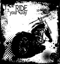 ride your way vector image