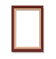 Simplerectangular frame isolated vector