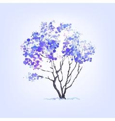 Winter tree of blots background vector image vector image