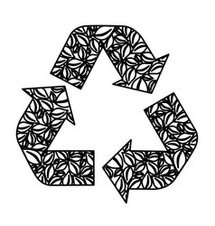 figure symbol reuse reduce and recycle icon vector image