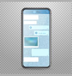 modern tablet smartphone mockup with messenger vector image