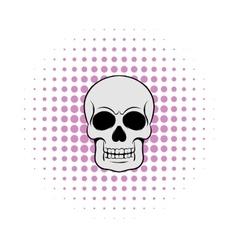 Skull icon comics style vector image vector image