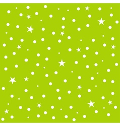 Star Polka Dot Green Background vector image