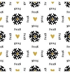 Trendy Xmas seamless pattern with Merry Christmas vector image vector image