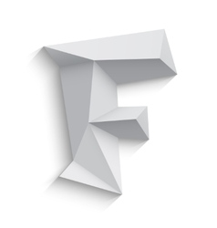 3d letter F on white vector