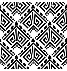 abstract black and white greek seamless pattern vector image