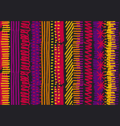 Abstract boho stripe seamless pattern vector