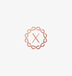 Abstract linear monogram letter x logo icon design vector