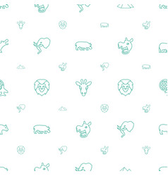Africa icons pattern seamless white background vector