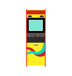 Arcade machine gaming entertainment retro icon vector