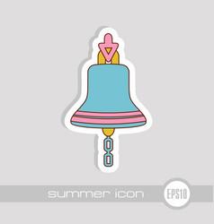 bell marine icon summer vector image